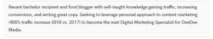 Digital Marketing Resume Samples