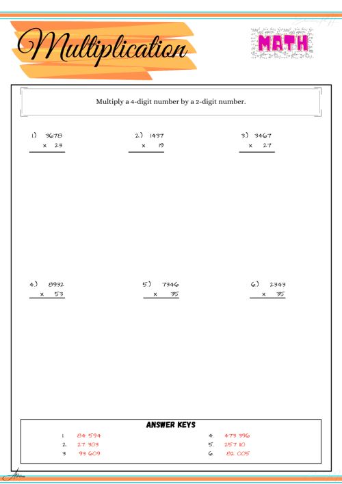 small resolution of Grade 6 Math Worksheets   Multiplication - Education PH
