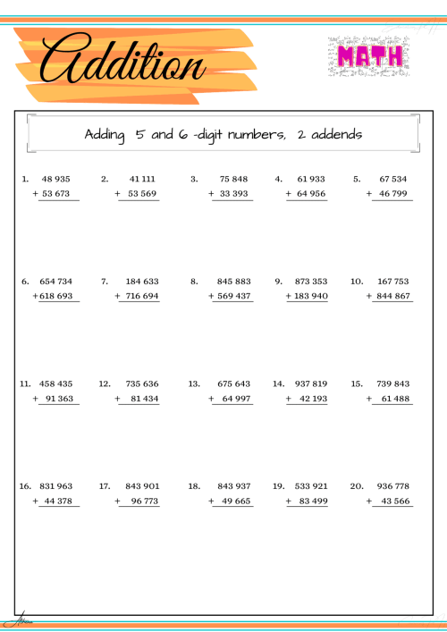 small resolution of Grade 4 Math Worksheet   Addition Part 4 - Education PH