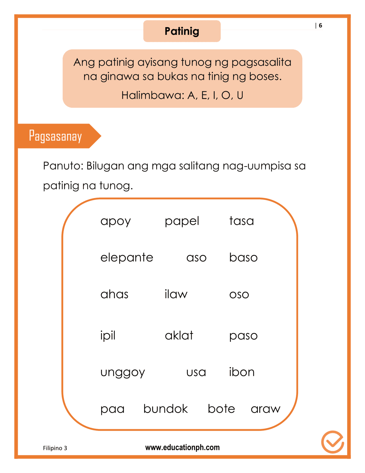 Grade 3 Gramatika Filipino Workbook
