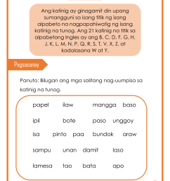 Worksheet In Filipino Grade 3 Pangngalan   Printable Worksheets and  Activities for Teachers [ 1656 x 1280 Pixel ]