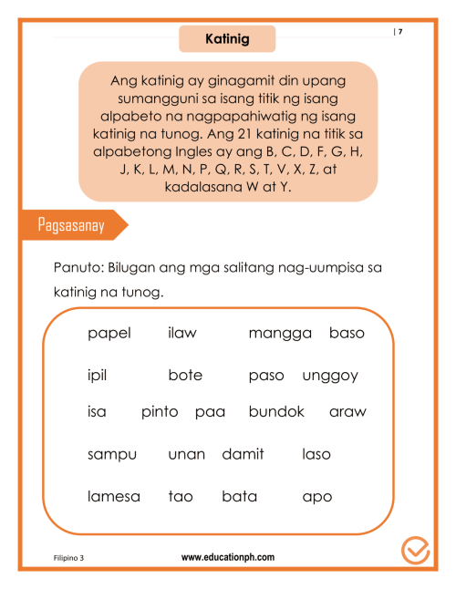 small resolution of Worksheet In Filipino Grade 3 Pangngalan   Printable Worksheets and  Activities for Teachers