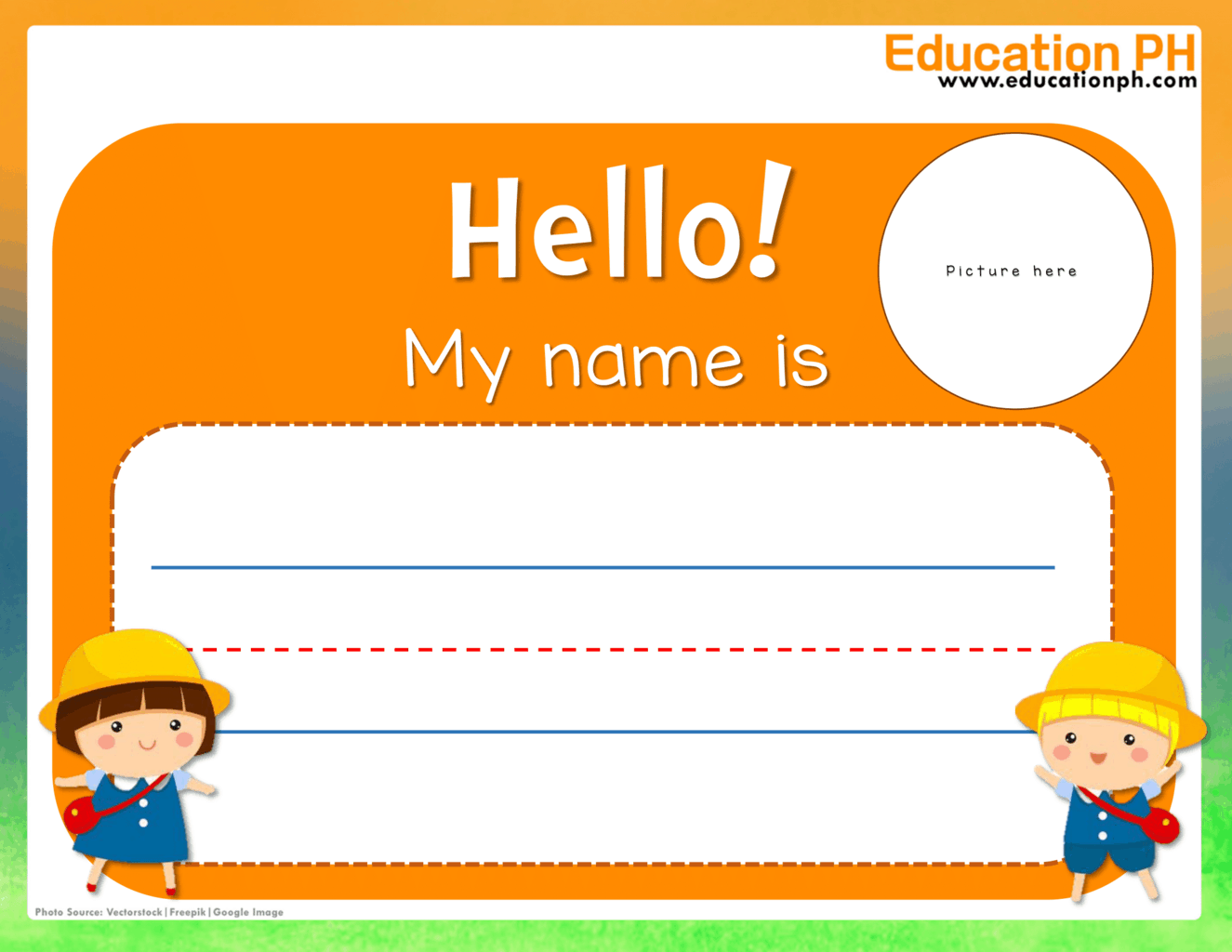 Preschool Worksheets All About Myself