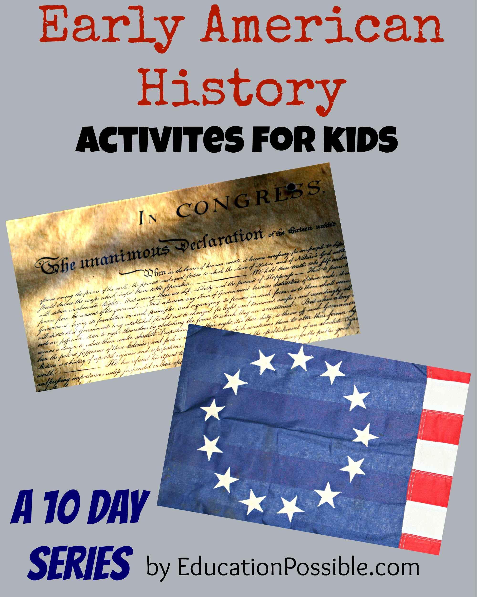 Early American History Activities For Kids