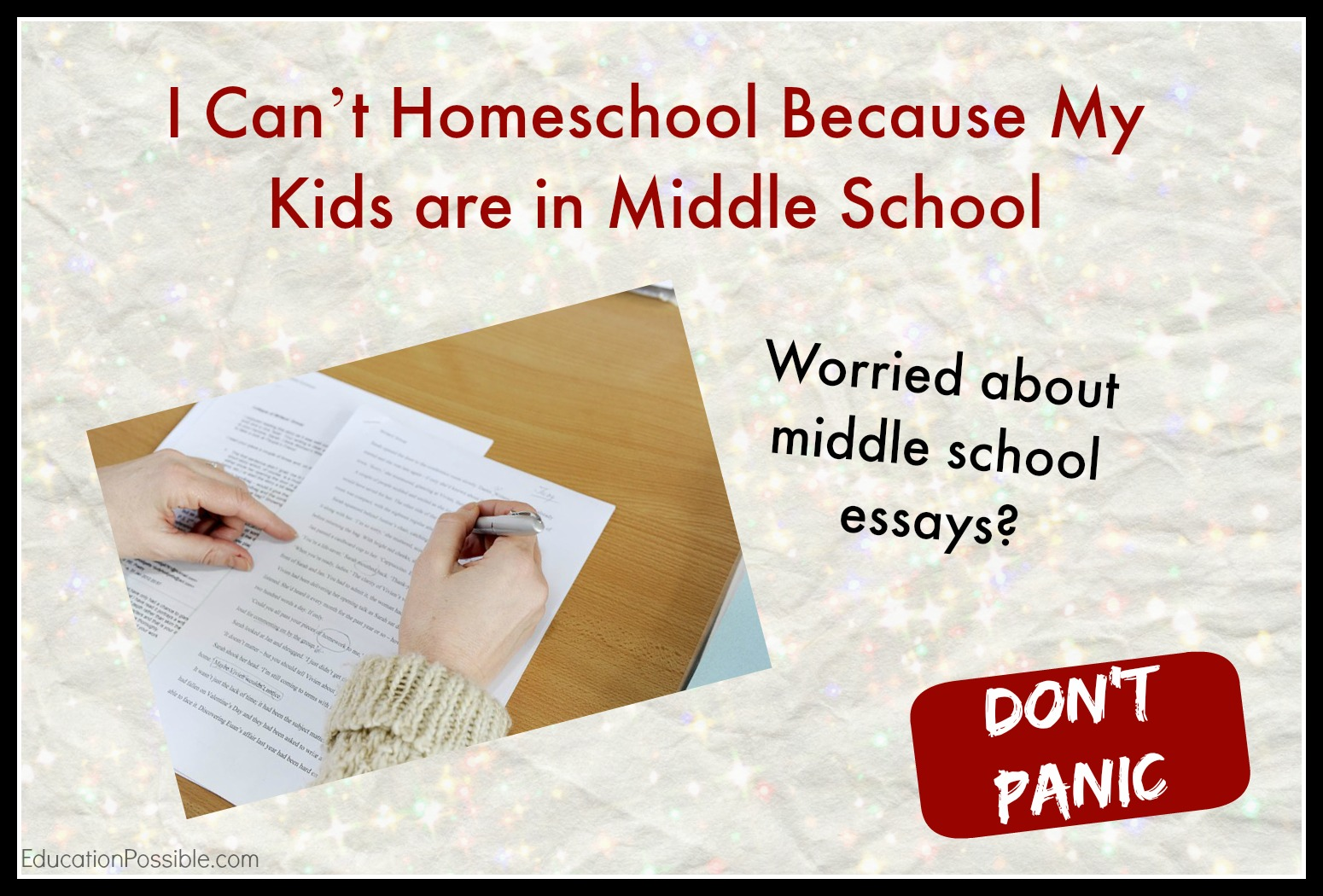 Persuasive Essay Topics Middle School Students