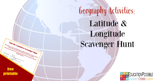 Geography Activities Latitude And Longitude Scavenger