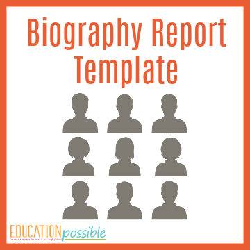 Biography Report Template   Biography Report Template