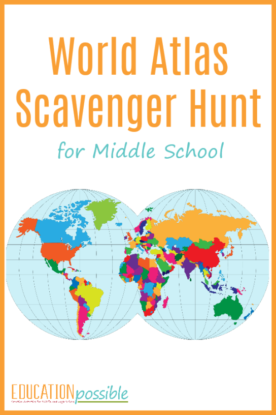 Geography activities world atlas scavenger hunt while youre studying middle school geography use this world atlas scavenger hunt as gumiabroncs Image collections