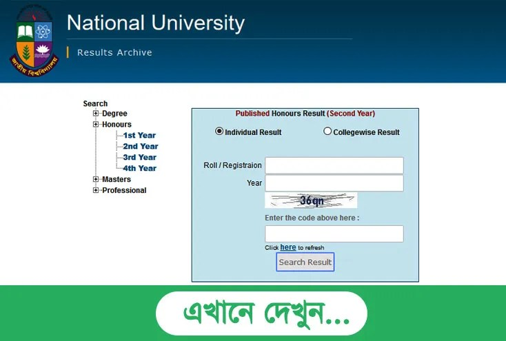 NU Masters Final Year Exam Result