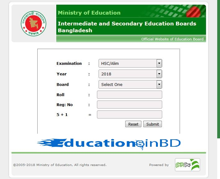 Rajshahi Board HSC Result 2021 With Full Marksheet Published