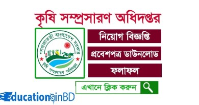 Bangladesh Department of Agricultural Extension DAE Job Circular and Exam date DAE Admit card 2018