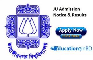 JU Jahangirnagar University Admission Test Notice Result 2018-19 Session Download