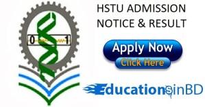 HSTU Admission Test Notice Result For Session 2018-2019 www.hstu.ac.bd