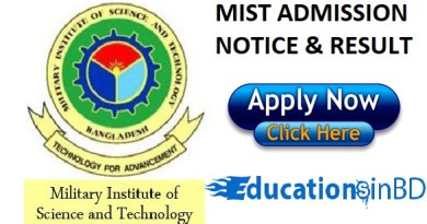 MIST Admission Test Notice Circular Result 2018-2019 www.mist.ac.bd