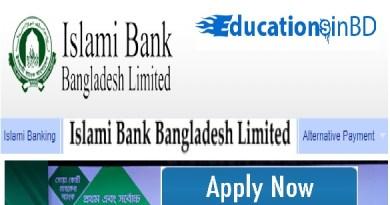 Islami Bank Bangladesh Limited Job Circular & Apply Instruction -2019