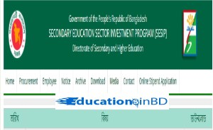 Secondary Education Sector Investment Program sesip