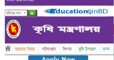 Ministry of Agriculture Job Circular Result & Apply Instruction -2019