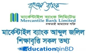 Mercantile Bank Scholarship Notice Result 2020