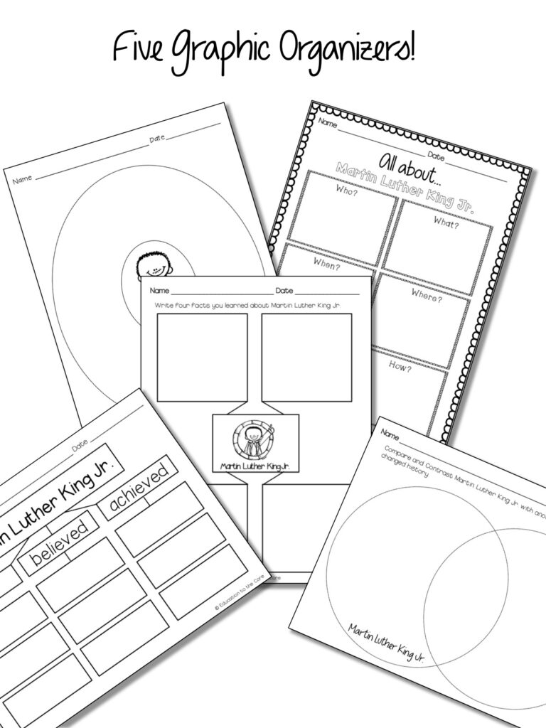 Martin Luther King Mini-Book and Unit and FREEBIE