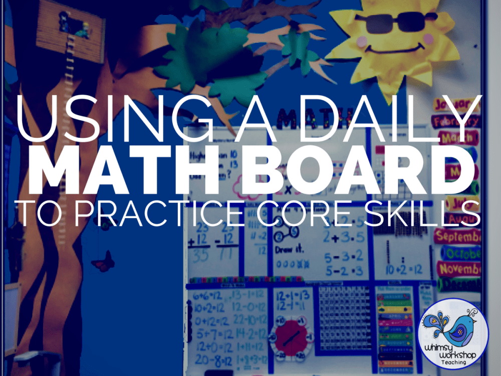 medium resolution of Using a Daily Math Board to Practice Core Skills