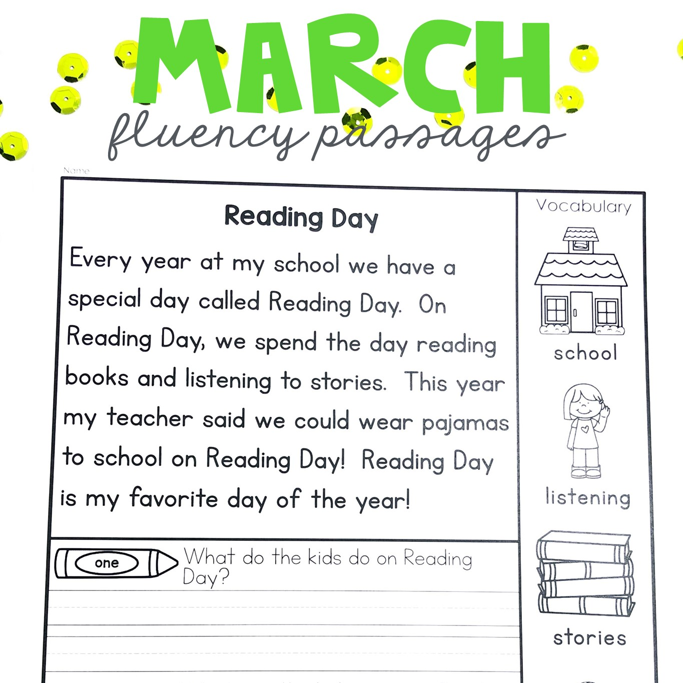 Practically 1st Grade Passages For March