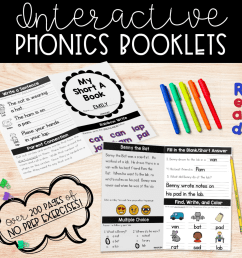 NO PREP Phonics Booklets   Education to the Core [ 2124 x 2138 Pixel ]