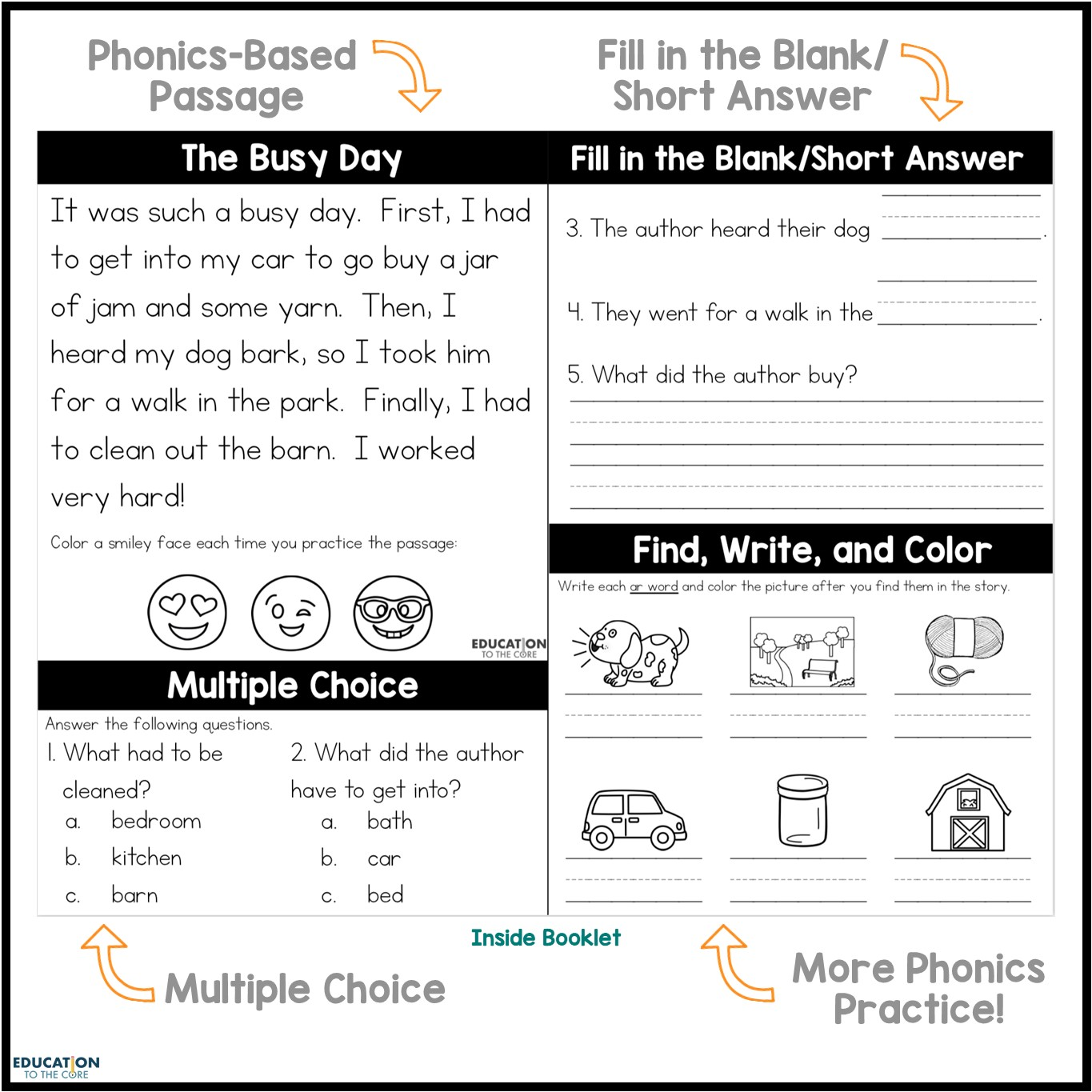 hight resolution of NO PREP Phonics Booklets   Education to the Core