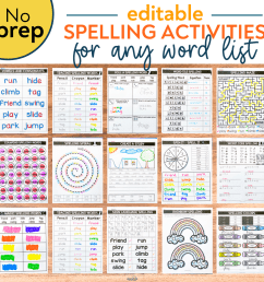 Editable Spelling Activities for ANY List of Words   Education to the Core [ 1499 x 1499 Pixel ]
