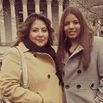 Paulina Zepeda (right) with LEV Community Organizer Micaela Razo
