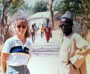 June Activist of the Month Mary Fertakis in Senegal with Ibrahim N'Diaye, her village father