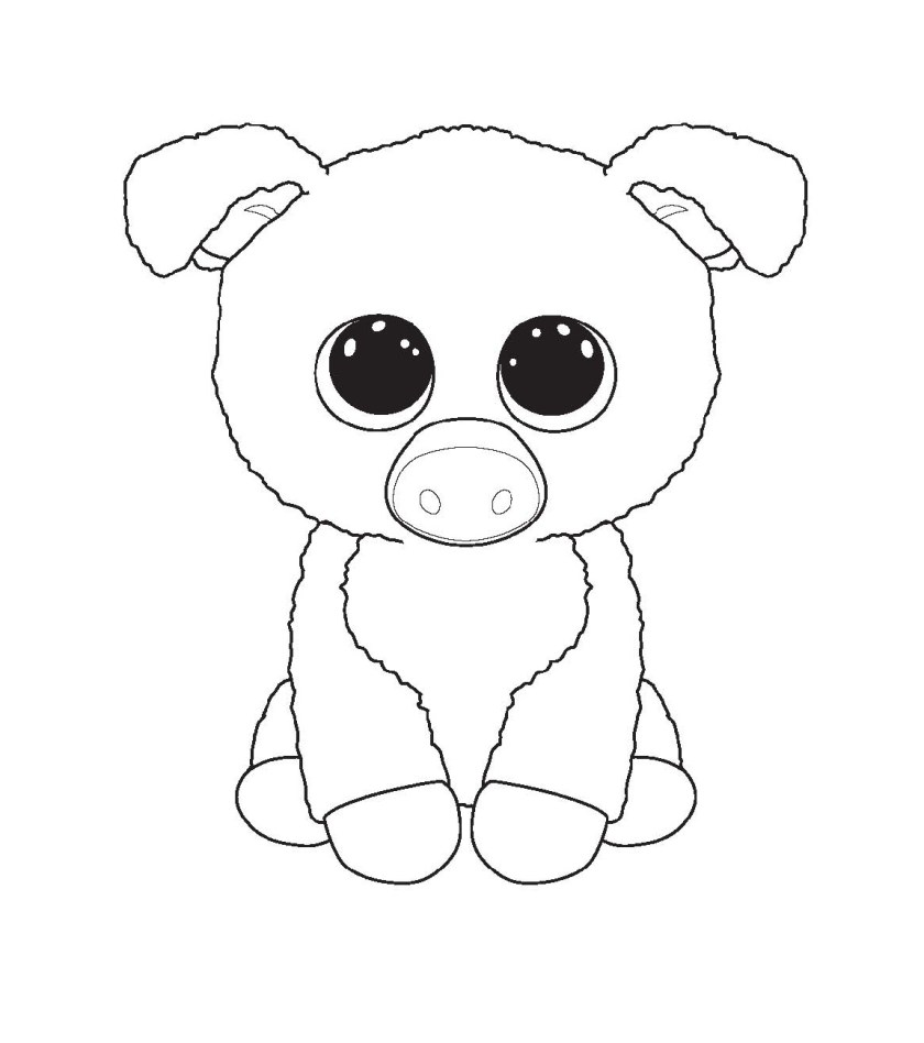beanie boo coloring pages for kids  educative printable