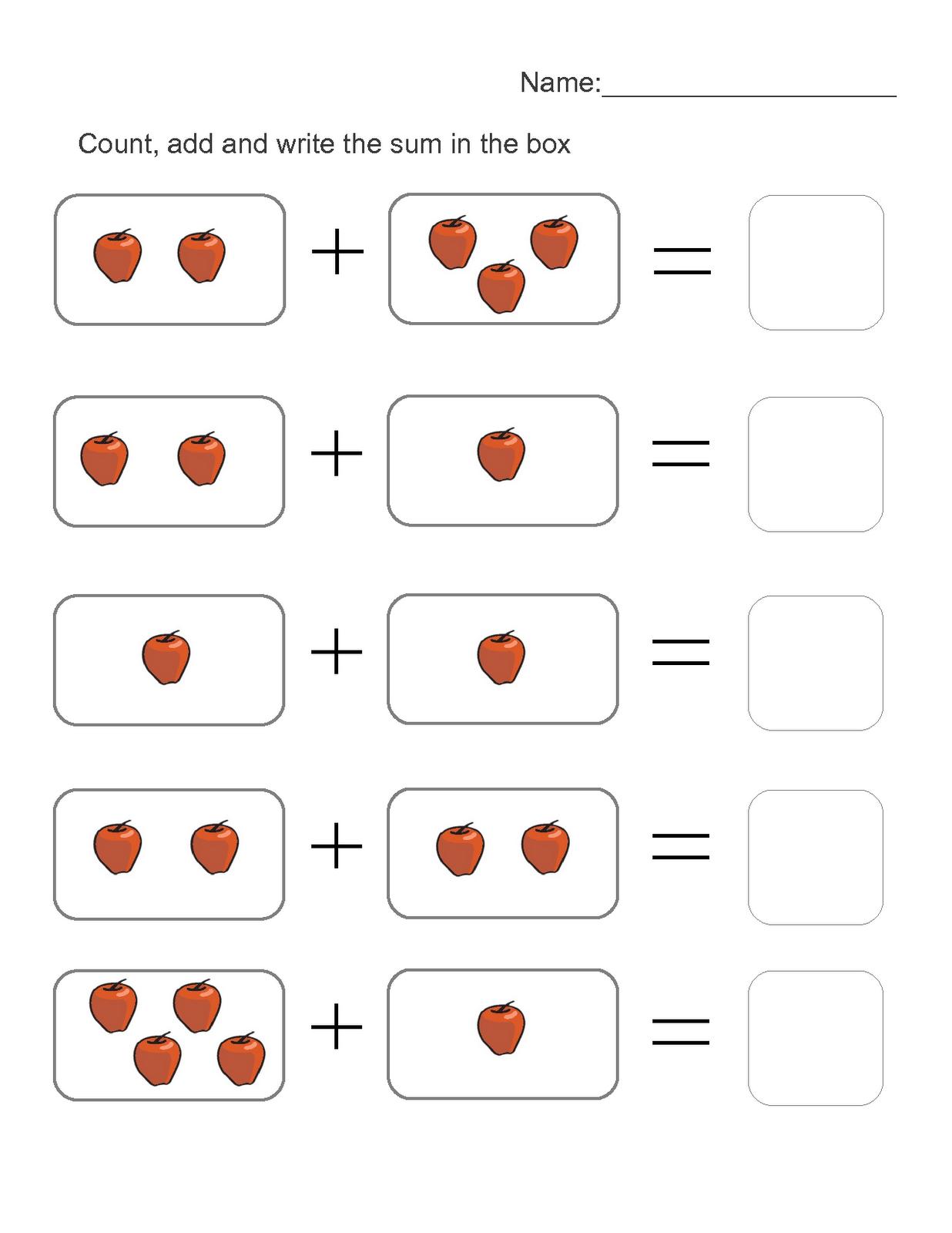 Addition Worksheet For Kids