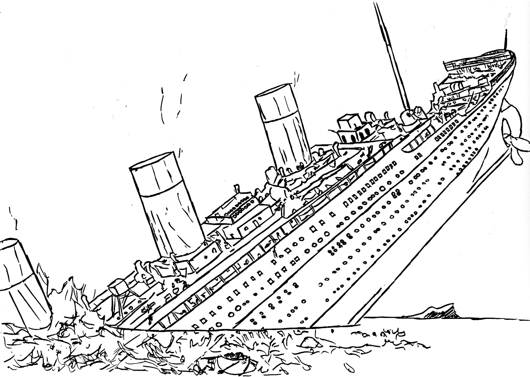 Titanic Coloring Pages Free To Print