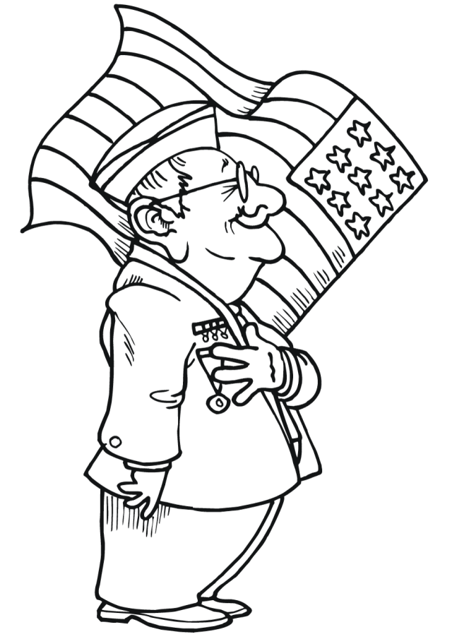 Free Veterans Day Coloring Sheets - Design Corral