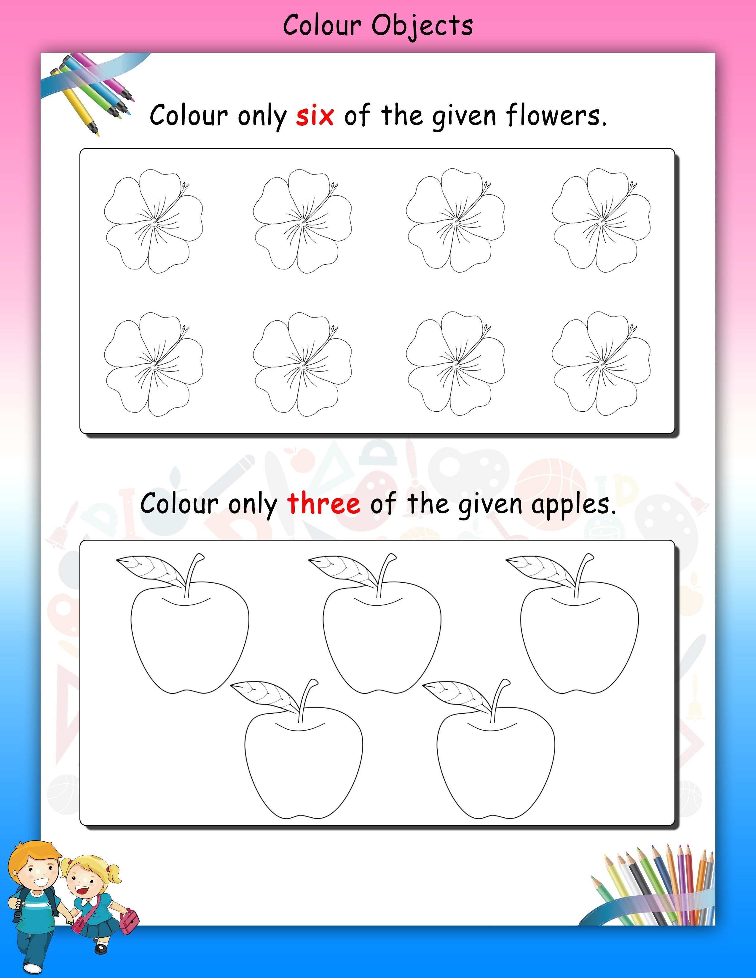 Worksheet For Nursery Printable