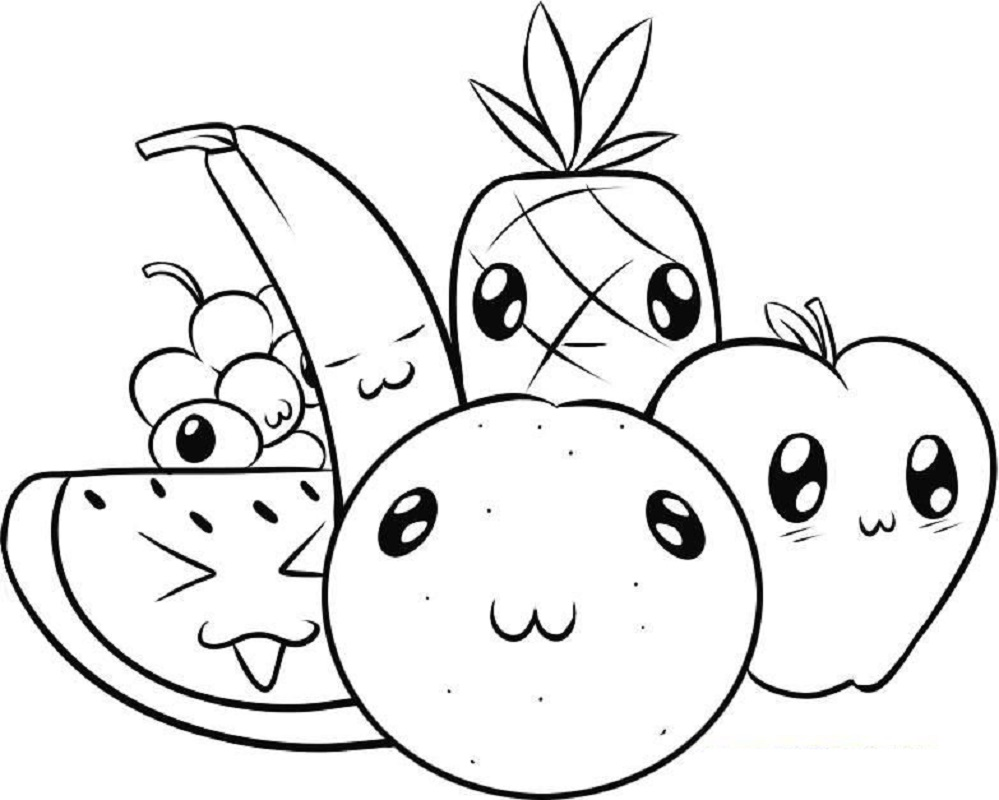 Cute Food Coloring Pages Educative Printable