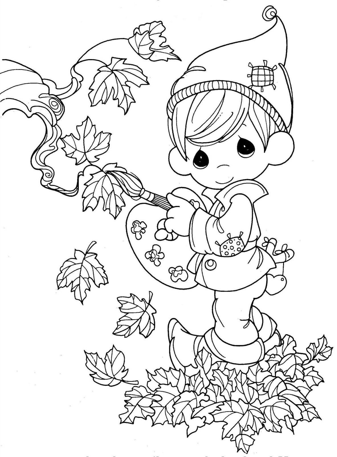 Fall Coloring Sheets As The Representative Of Fall