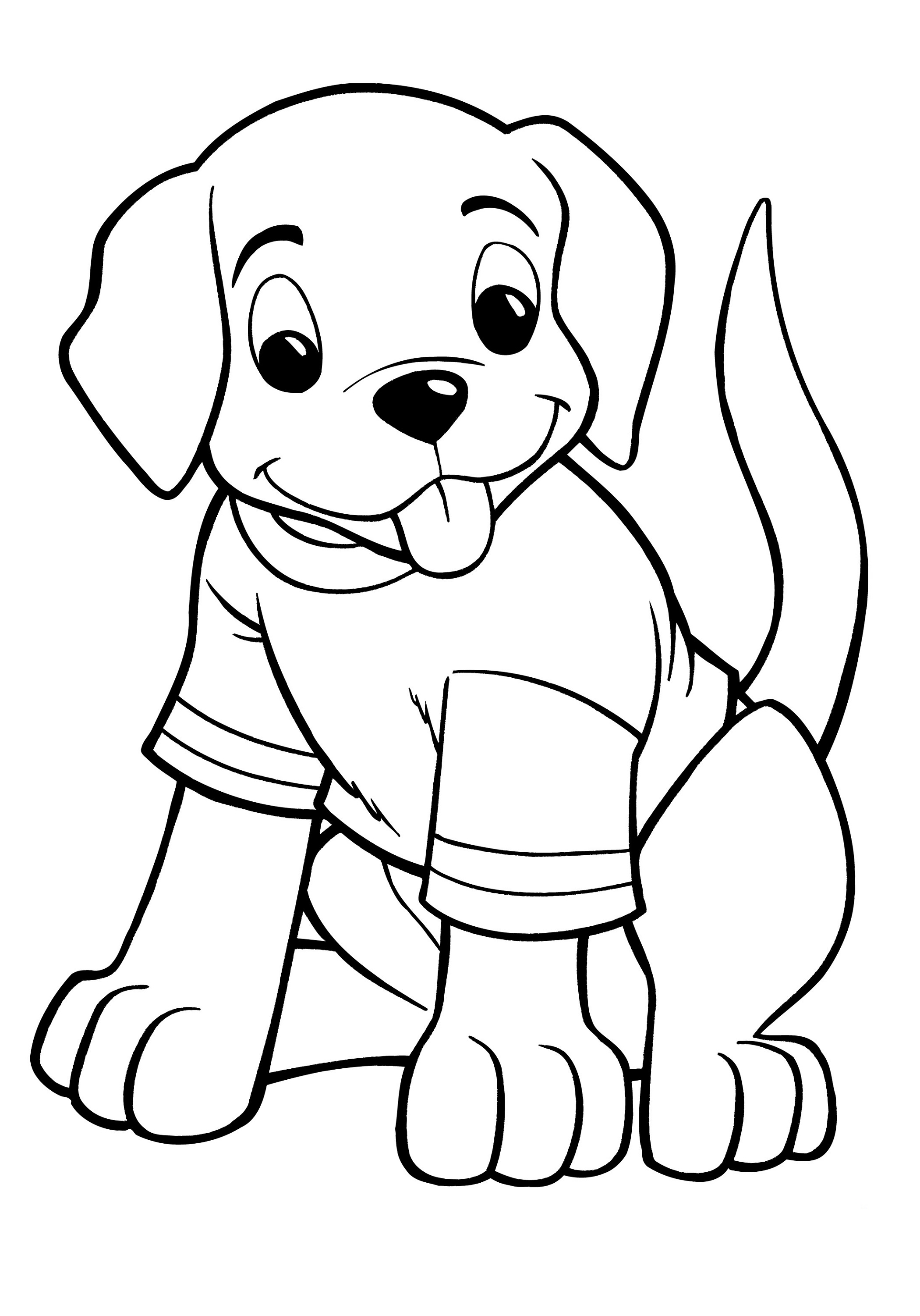 Puppy Coloring Pages Usable