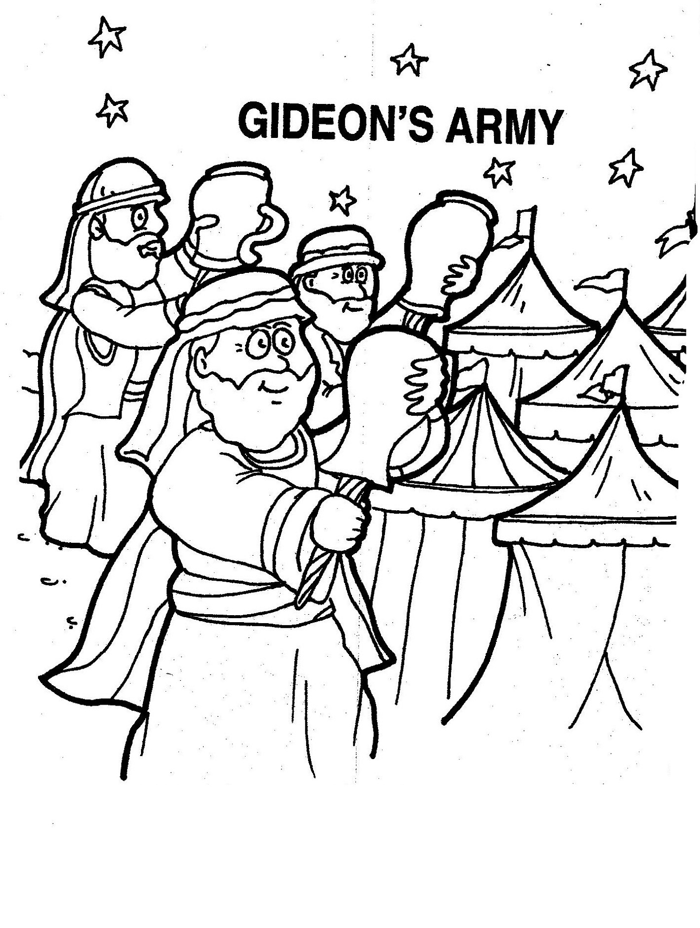 Gideon Coloring Pages For The Kids