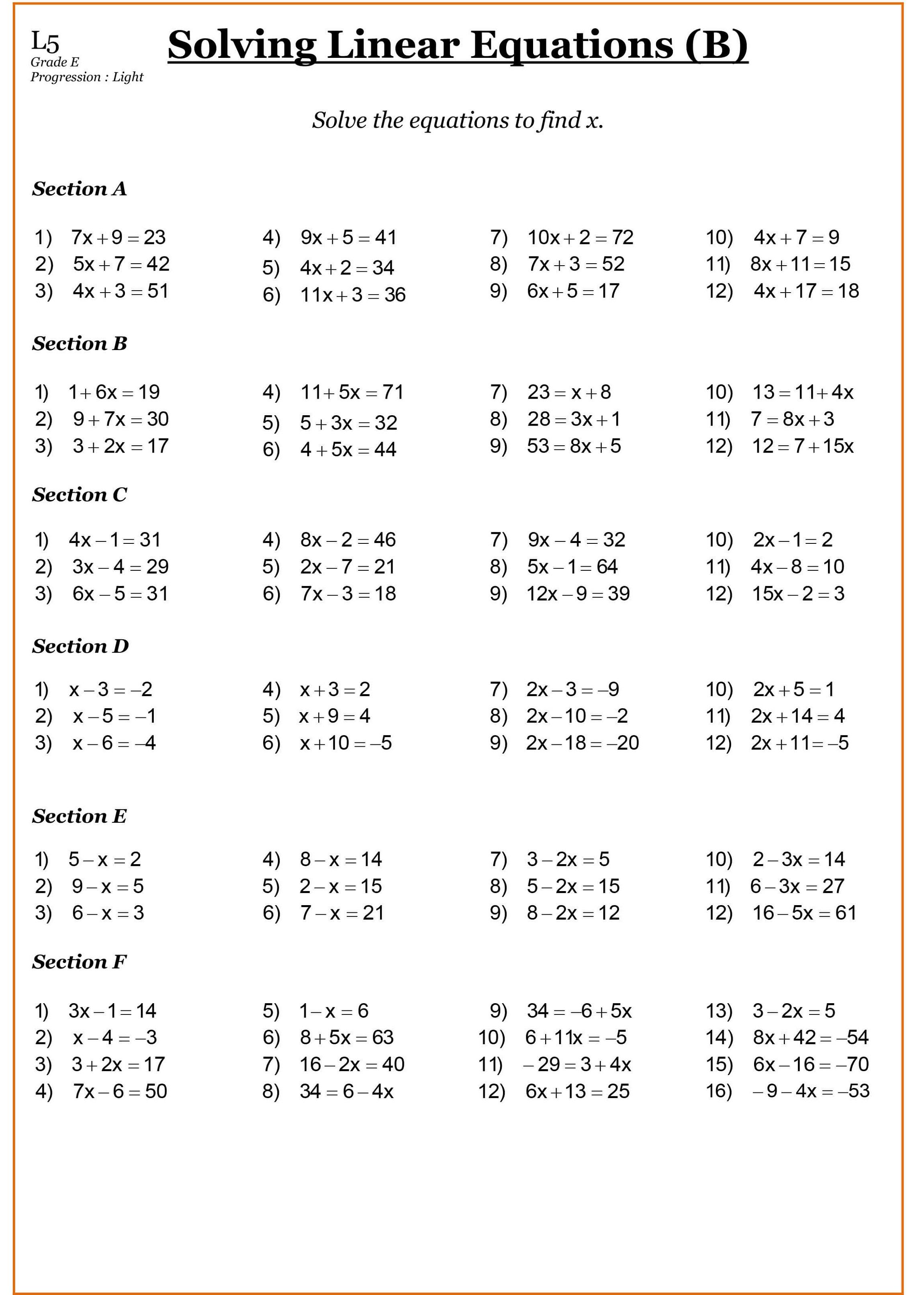 Year 7 Math Worksheet Au