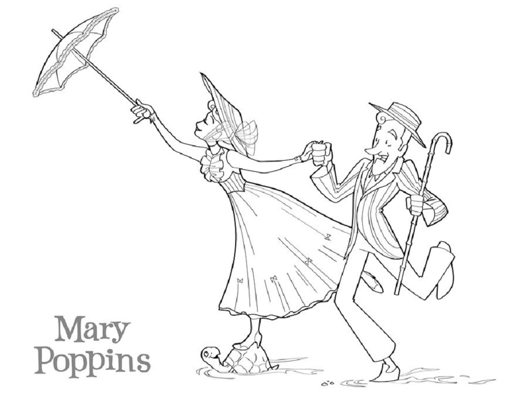Mary Poppins Coloring Pages 3