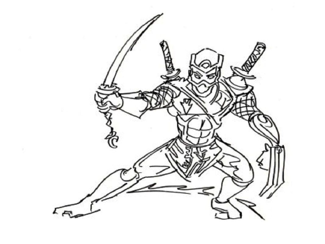 Ninja Coloring Pages High Quality