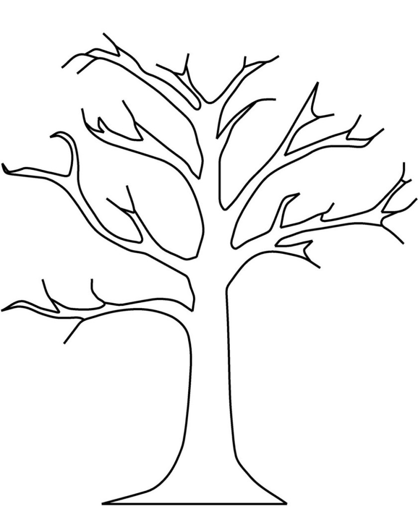 bare tree coloring page for media  educative printable