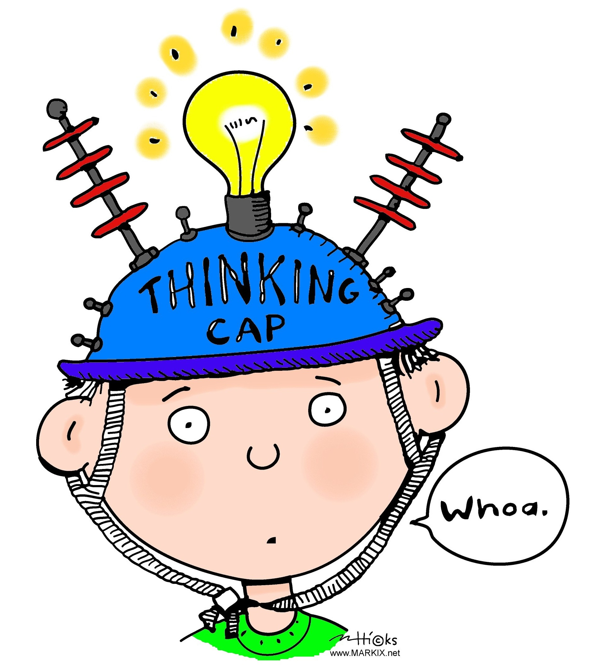 hight resolution of thinking cap