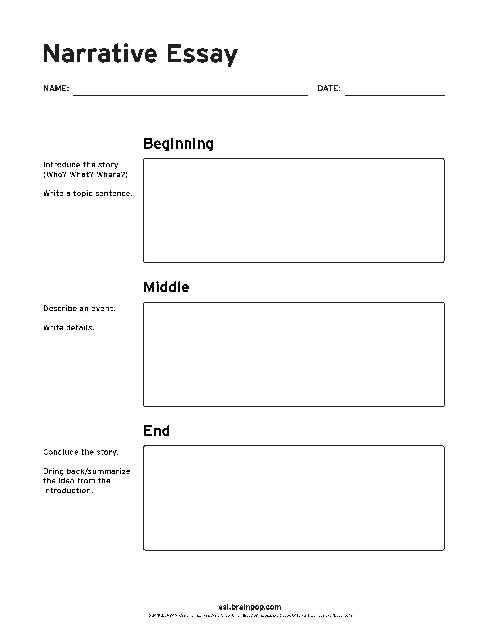 Sample Narrative Essays For Esl