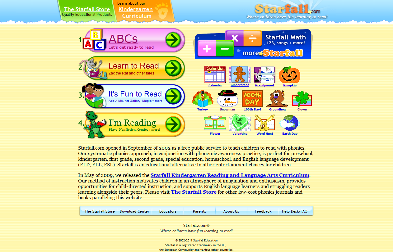 Excellent Websites For Your 4 6 Year Old