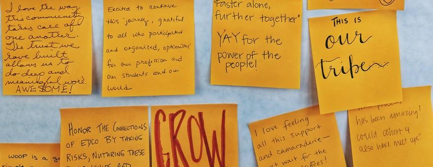EdCo Collaborates teacher post-it activity