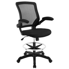 Tall Office Chair For Standing Desk Simply Bows And Covers Northumberland Modway Veer Drafting In Black Reception Adjustable Desks Flip Up Arm Table