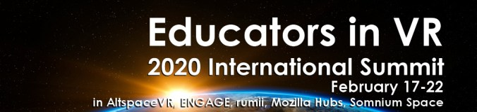 2020 Educators in VR - International Summit Site Banner 1000px