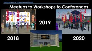 Behind the Scenes - History of Educators in VR virtual events